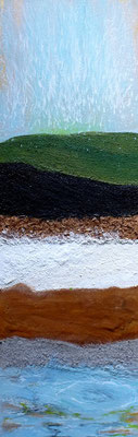 Geysir, Acryl auf Leinwand, 60x20 cm, 140 €