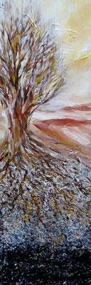 Der Winterbaum, Acryl auf Leinwand, 60x20cm, 160 €