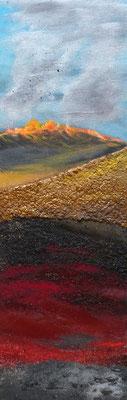 Feuerland, Acryl auf Leinwand, 60x20 cm, 140 €