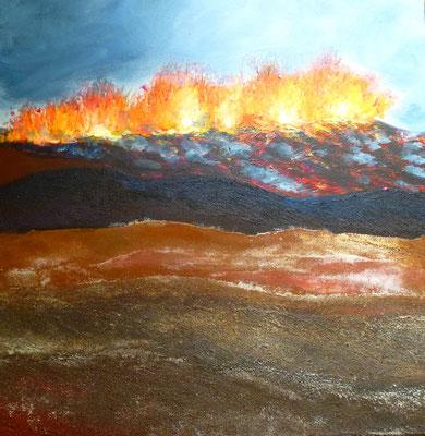 Island IV, Acryl auf Leinwand, 50x50 cm, 280 €