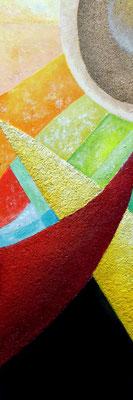 Hoffunung, Acryl auf Leinwand, 90x30cm, 310 €