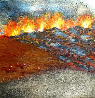 Island V, Acryl auf Leinwand, 30x30 cm,120 €