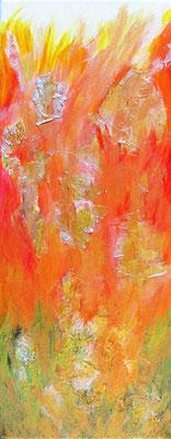 Der Urwald brennt, Öl auf Leinwand, 50x20cm, 130 €