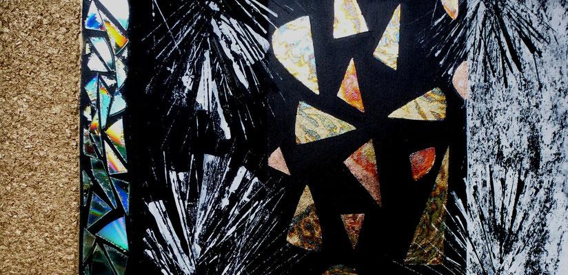 Secret Messages III, Acryl auf Leinwand in Mischtechnik, 40x60 cm, 280 €