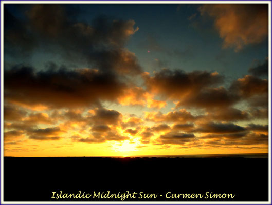Island, Mitternachtssonne