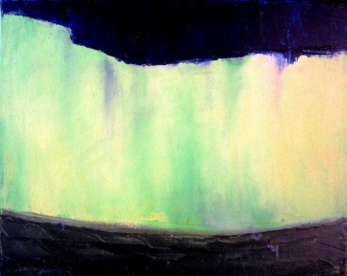 Nordlicht, Öl auf Leinwand, 24x30 cm, 80 €