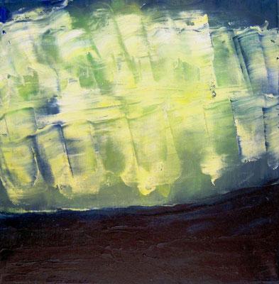 Nordlichter, Öl auf Leinwand, 30x30 cm, 120 €