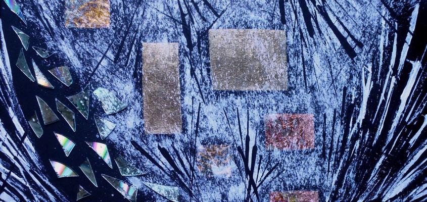 Secret Messages II, Acryl auf Leinwand in Mischtechnik, 40x60 cm, 280 €