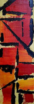 El Tigre, Acryl und Sand auf Leinwand, 60x20cm, 150 €