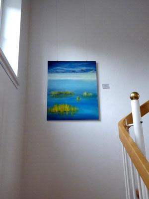 """Mein Bild """"Moorlandschaft"""" schmückt das Treppenhaus"""