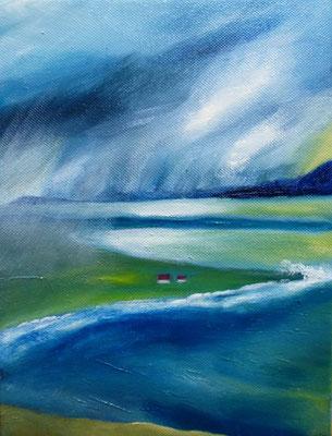 Sturm, Öl auf Leinwand, 24x18 cm, 60 €
