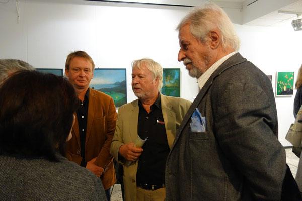 von links Nikolai Lagoida, Hanno Karlhuber, Peter Klitsch