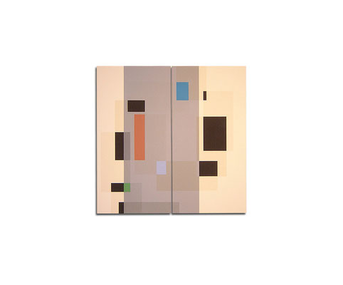 Acrylique sur toile dyptique - 90x110x4 cm