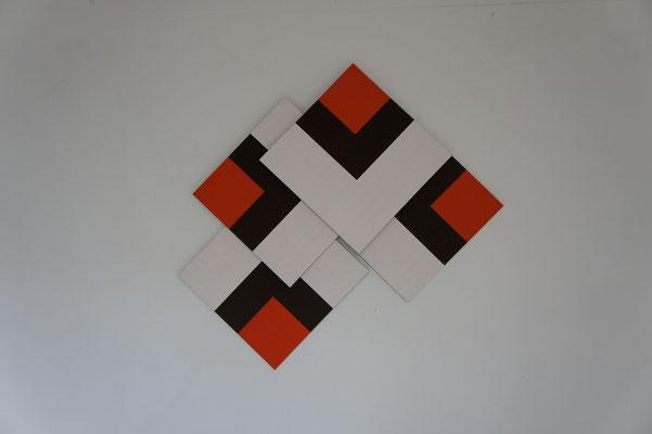 Acrylique sur toile - 4 chassis - 120x150x15 cm
