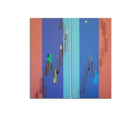 Acrylique sur toile dyptique - 160x120x4 cm