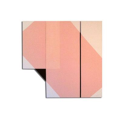 Colle de peau + pigments et acrylique sur toile - Format 120x120x4 cm