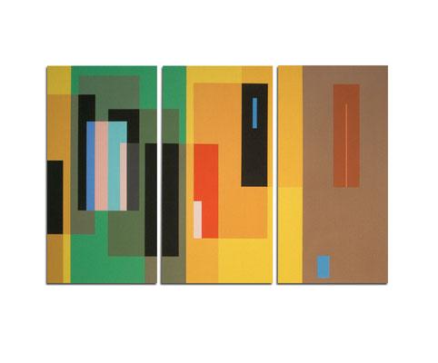 Acrylique sur toile tryptique - 130x90x4 cm