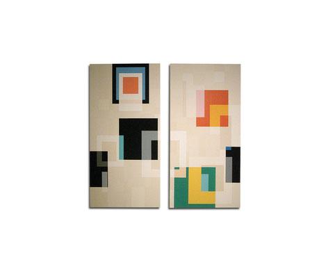 Acrylique sur toile dyptique - 150x130x4 cm