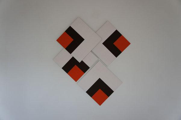 Acrylique sur toile - 4 chassis - 150x130x10 cm