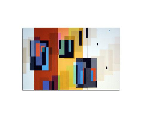 Acrylique sur toile tryptique - 90x130x4 cm