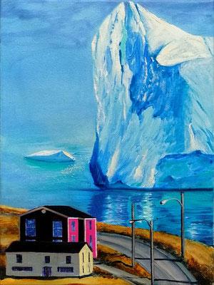 Das blaue Monster 2020, Öl, Leinwand, 40 x 30 cm