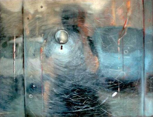 Löchlein, 2000, Öl, Leinwand, 116 x 89 cm