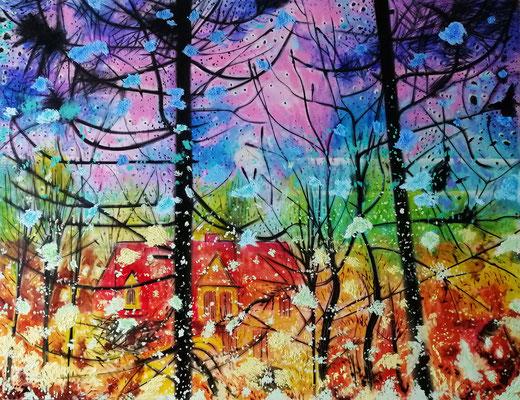 Wintergarten 2019, Öl, Leinwand, 150 x 200 cm