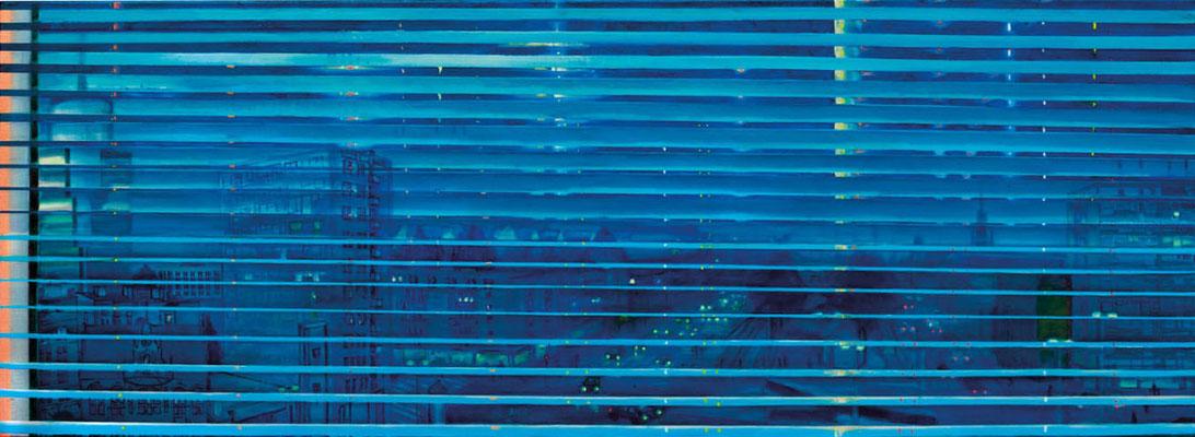 Jalousie Stettin, 2016, Öl, Leinwand, 65 x 180 cm