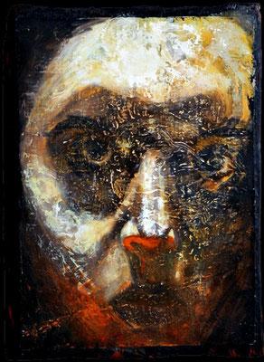 Selbst, 1997, Öl, Leinwand, Holz