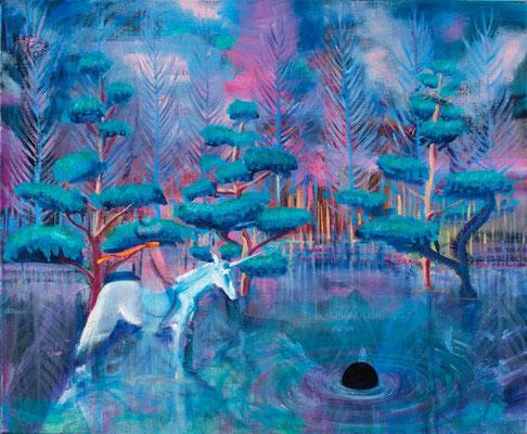 Ereignishorizont, 2017, Öl, Leinwand, 46 x 55 cm