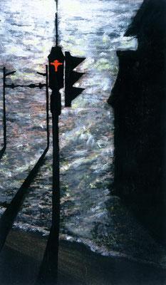 2001, Öl, Papier