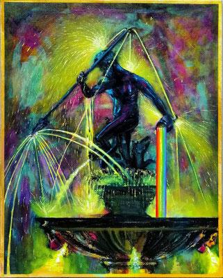 Danzig durch Prisma 2019, Öl, Leinwand, 80 x 60 cm