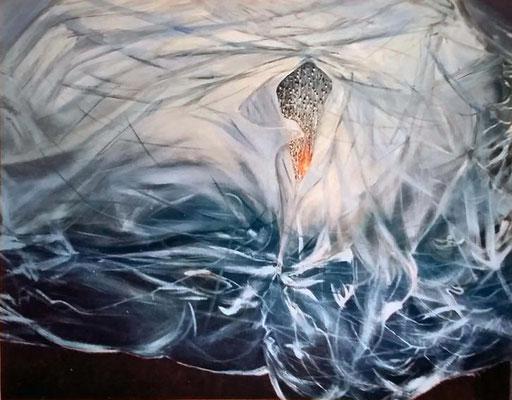 Regen, 2000, Öl, Leinwand, 146 x 115 cm