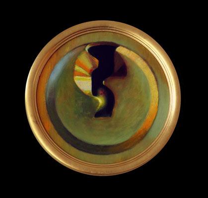 Goldener Ring, 2015, Öl, Leinwand, ∅ 30 cm