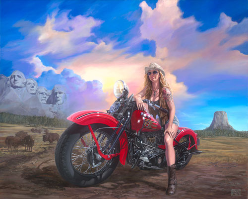 Michael And Sons >> Motorcycle Art - Artist Michael Knepper