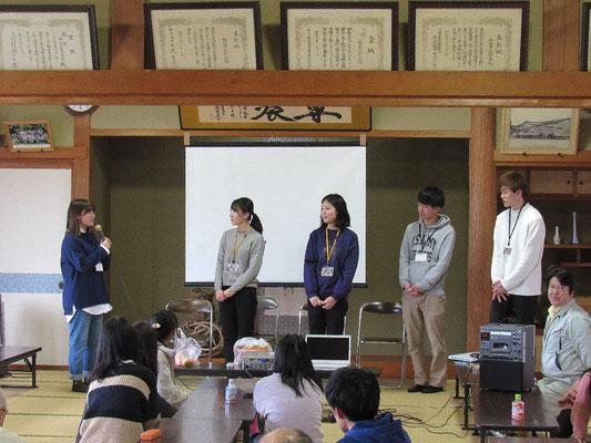 新潟大学「さんせっと」の4年生の皆さんの卒業式です
