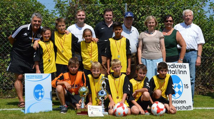 E-Junioren SSV Eggenfelden Landkreis-Pokal-Sieger 2015