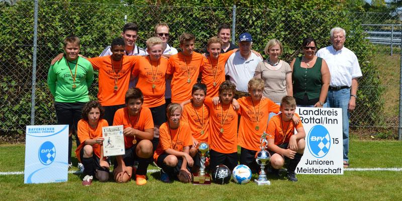 D-Junioren TuS Pfarrkirchen Landkreis-Pokal-Sieger 2015