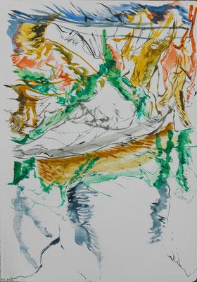 Sin título, Acuarela sobre papel (Moleskine) 30 x 21 cm . 2014