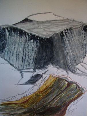Sin título. Pastel y acrílico  sobre papel. 90 x 90.cm. 2008
