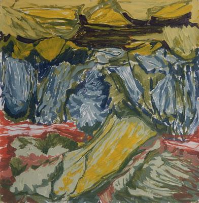 S/T 2014 óleo sobre papel. 90 x 90 cm