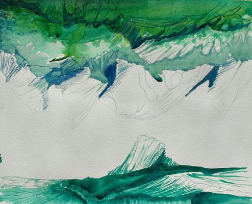 Sin título. Acuarela sobre papel, 23 x 29 cm. 2011