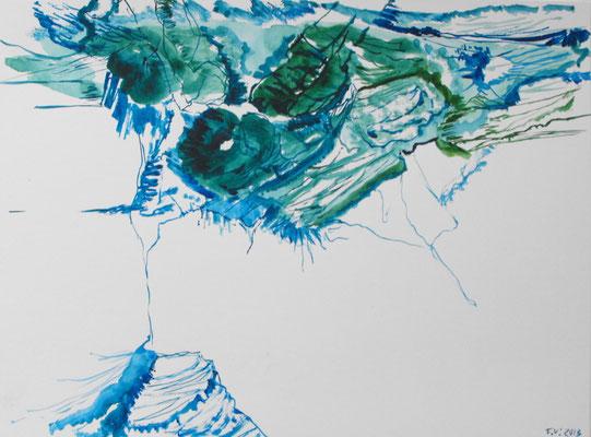 Sin título, (Aheym serie) 2013. Acuarela sobre papel. 24 x 32 cm.