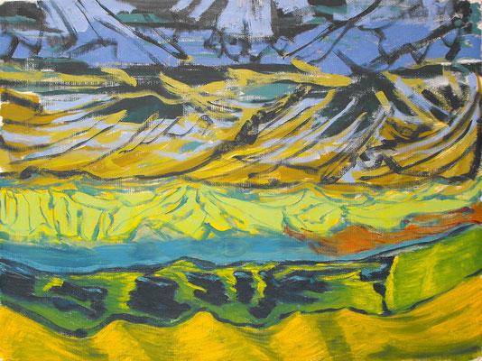 Sin título (Aheym serie) 2013. Óleo sobre lienzo, 50 x 65 cm.