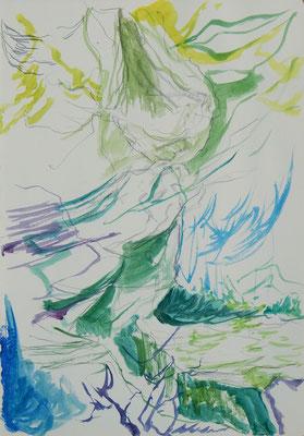 Abendseite acuarela y grafito sobre papel (moleskine), 30 x 21 cm aprox.