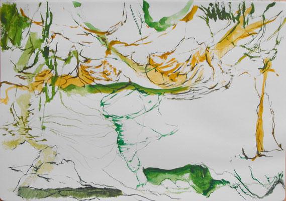 Sin título, Acuarela sobre papel (Moleskine) 21 x 30 cm . 2014
