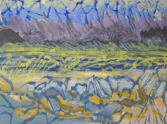 FRAKTUR (Aheym serie) 2013. Óleo sobre lienzo, 50 x 65 cm.