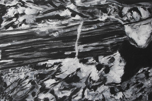 """Piamontita"" (Stone & Wood) 2013 Óleo sobre cartón 30 x 45 cm."