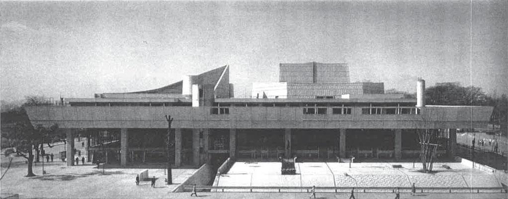 東京文化会館 北側全景(「生誕100年前川國男建築展」カタログより)