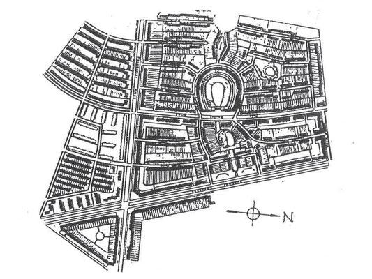 ブリッツ・ジードルング全体配置図 敷地面積110.2ha 全1963戸